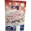 American Mikrowellen Popcorn süß, 3 x 100g...