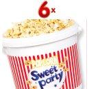 Popcorn Sucre Seau 6 x 250g Eimer (Eimer mit...