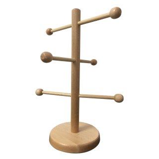 usy Brezel Ständer aus Holz für Laugenbrezel (6-armig, ca. 35cm hoch)