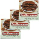 "3x Dos Hermanos Tortas ""Schokoladen-Mandel Nougat..."