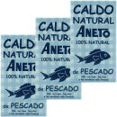 3x Aneto Caldo Natural de Pescado...