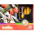 Bolsius Baumkerzen natural gelb Bienenwachs 10%...