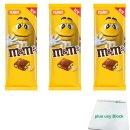 m&ms Peanut Tafel, 150g 3er Pack (3x Milchschokolade...