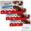 Ferrero Kinder Delice Kuchen-Snack 3er Pack (12x39g...