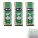 Oryza Naturreis Langkorn Vollkorn 3er Pack (3x 500g) +...