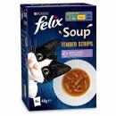 Felix Soup Tender Strips Gemischte Auswahl (6x48g Packung)