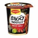 Maggi Magic Asia Saucy Noodles Sweet Chili (8x75g Becher)