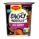 Maggi Magic Asia Saucy Noodles Red Curry (8x75g Becher)