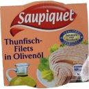 Saupiquet Zarte Thunfisch-Filets in Olivenöl 8er...