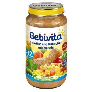 Bebivita Gemüse und Hühnchen mit Nudeln, 250g