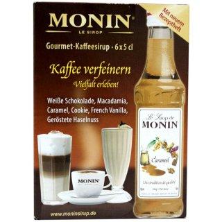 Monin Kaffee-Sirup Minibox (6x5cl Miniflaschen)