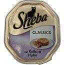 Sheba mit Kalb und Huhn, 85g Schälchen