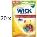 Wick Wildkirsche & Eukalyptus ohne Zucker (20x 72g...