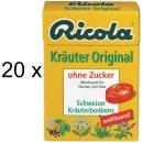 Ricola Kräuter Original ohne Zucker (20x 50g Box)