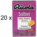 Ricola Salbei ohne Zucker (20x 50g Box)