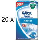 Wick Blau Halsbonbon ohne Zucker (20x 46g Box)