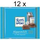 Ritter Sport Alpenmilch (12x 100g Tafeln)
