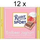 Ritter Sport Erdbeer Joghurt (12x 100g Schokoladen-Tafeln)
