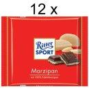 Ritter Sport Marzipan (12x 100g Schokoladen-Tafeln)