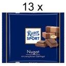 Ritter Sport  Nugat (13x 100g Schokoladen-Tafeln)