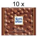 Ritter Sport Voll-Nuss, 10er Pack (10x 100g Packung)