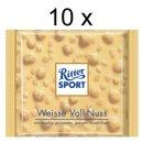 Ritter Sport Weisse Voll-Nuss, 10er Pack (10x 100g Packung)