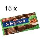 Schogetten Vollmilch-Nuss Schokolade (15x 100g Tafel)