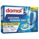 domol Geschirr-Reiniger-Tabs 12-fach Power (40 Tabs)