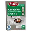 Rubin Kaffeefilter, Gr.4 (100 Stück Box)