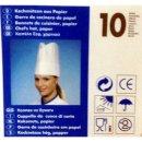 10 Kochmützen, Krepp 25 cm weiss...