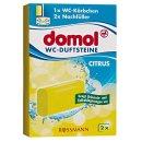 """domol WC-Duftsteine """"Citrus"""" 2x40g"""