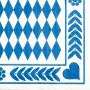 Papstar Servietten Bayrisch Blau Oktoberfest 3lagig...