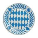Papstar Teller Pappe Rund Oktoberfest Bayrisch Blau 23cm...