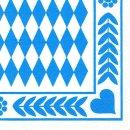 Papstar Servietten Oktoberfest bayrisch blau 33 x 33 cm,...