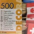 """500 Deko-Picker 8 cm """"Nationen"""" Flaggenpicker"""